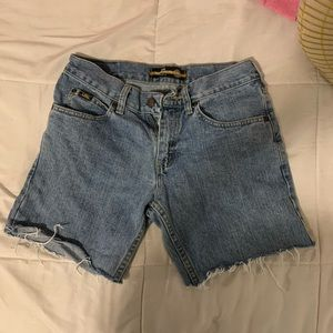 Lee cropped jean shorts